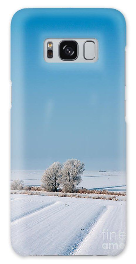 Snowy Galaxy S8 Case featuring the photograph Snow Covered Landscape by Jan Brons