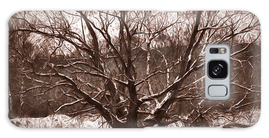 Artistic Galaxy S8 Case featuring the photograph Snow Imp 1 - Tree Covered With Snow January 2014 by Leif Sohlman