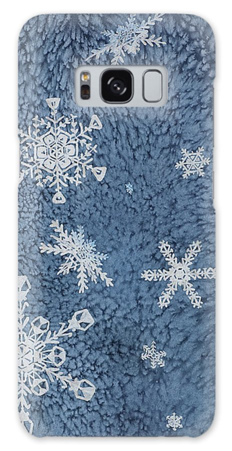 Contemporary Galaxy S8 Case featuring the painting Snow Jewels by Margaret Bobb