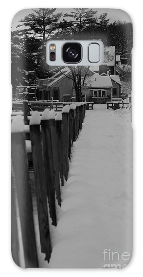 Meredith Galaxy S8 Case featuring the photograph Snow On The Docks by Michael Mooney