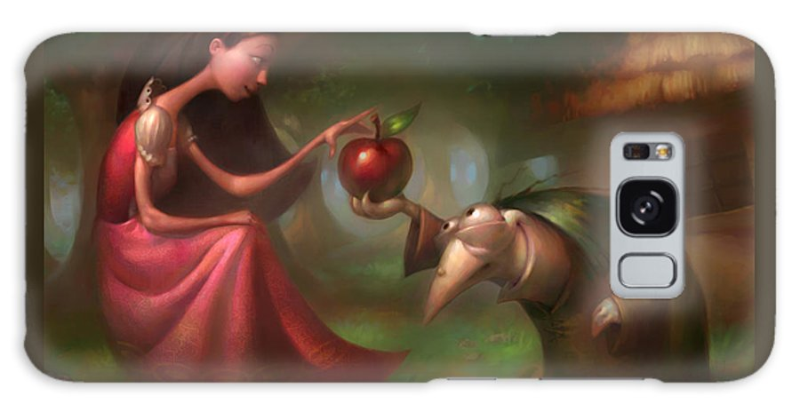 Snow White Galaxy Case featuring the painting Snow White by Adam Ford