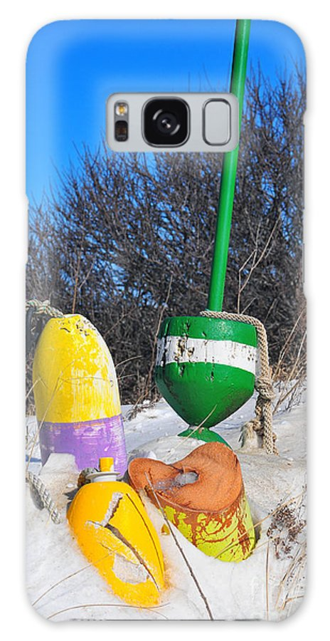 Snowbound Buoys Galaxy S8 Case featuring the photograph Snowbound Buoys by Catherine Reusch Daley