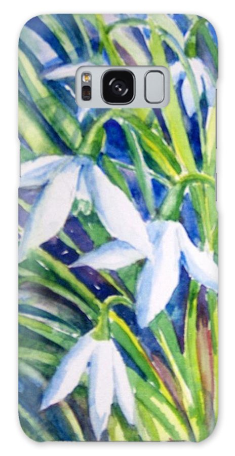 Snowdrops Galaxy S8 Case featuring the painting Snowdrops by Trudi Doyle
