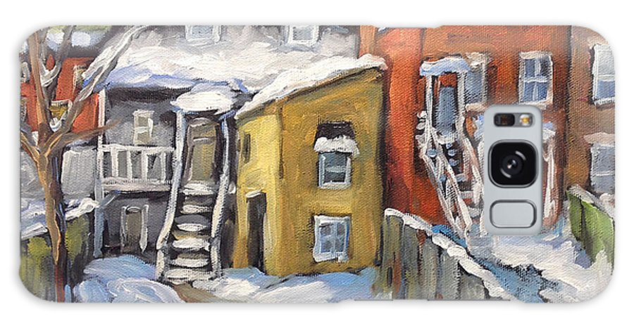 Urban Galaxy S8 Case featuring the painting Snowed In Yards By Prankearts by Richard T Pranke