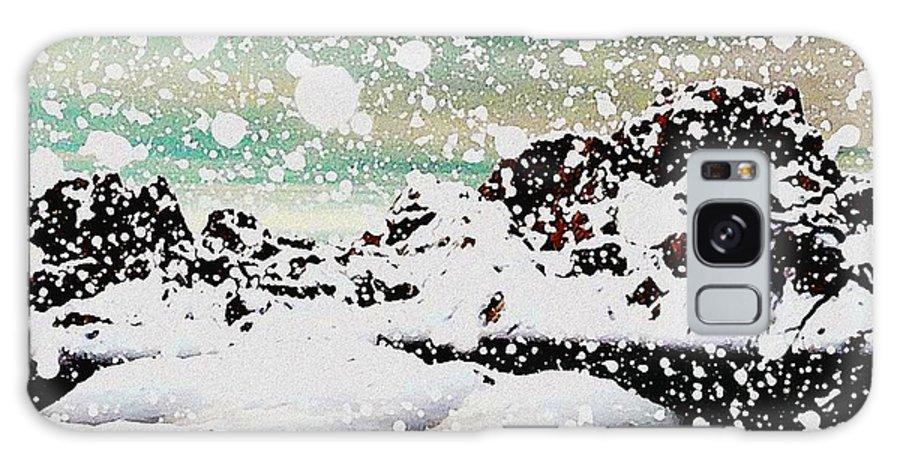 Snowfall Galaxy S8 Case featuring the painting Snowfall by Anastasiya Malakhova