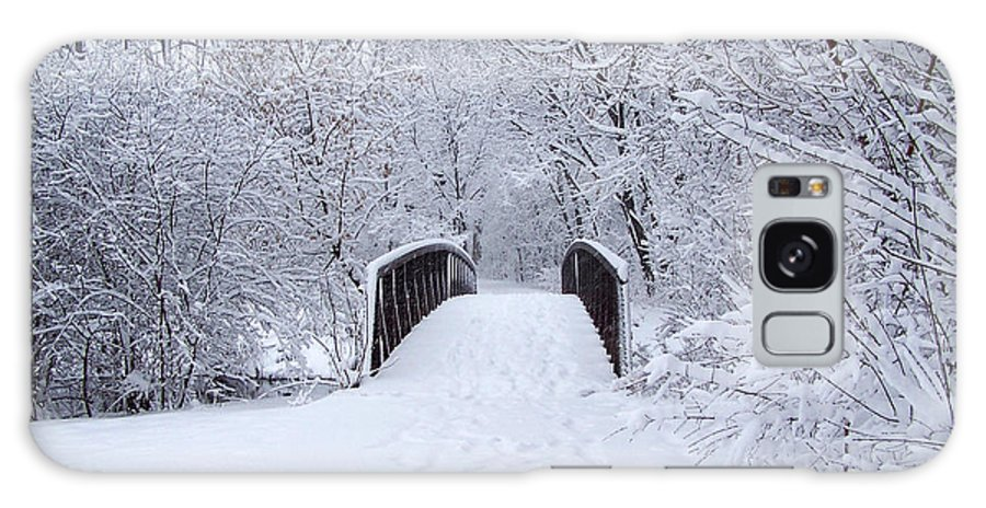 Snow Galaxy S8 Case featuring the photograph Snowy Day Bridge by Forest Floor Photography