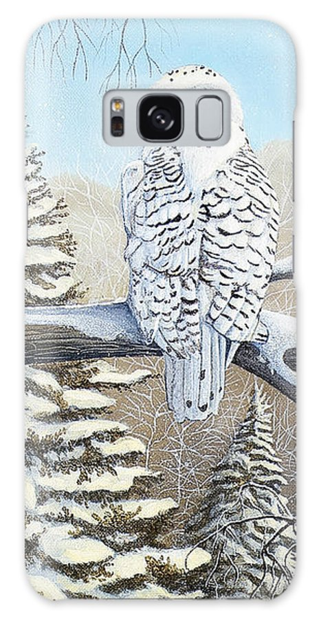 Rick Huotari Galaxy S8 Case featuring the painting Snowy Owl by Rick Huotari