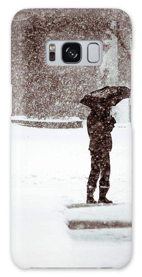 Winter Galaxy S8 Case featuring the photograph Snowy Walk by Lauri Novak