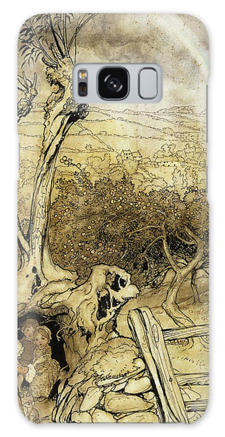 British Artist Galaxy S8 Case featuring the painting So Nobody Can Quite Explain Exactly Where The Rainbows End by Arthur Rackham