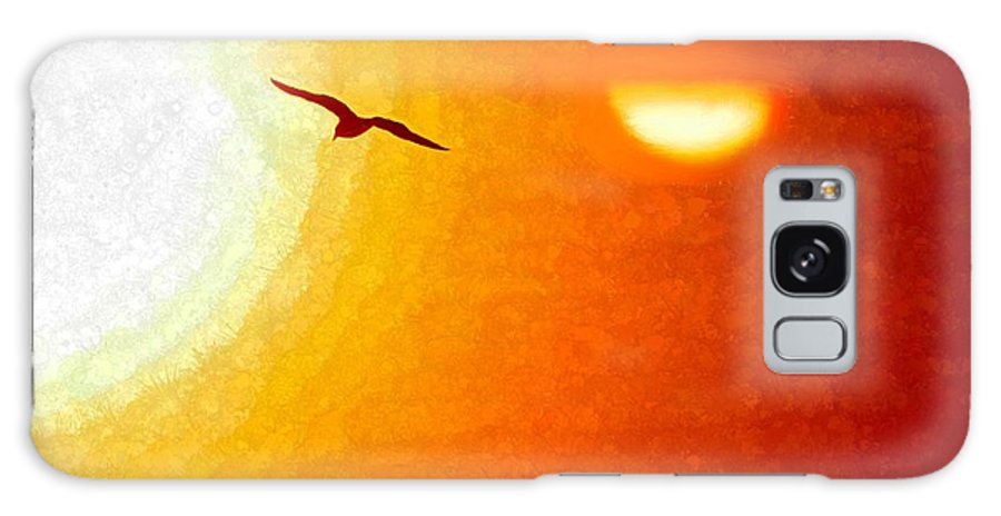 Sunset Galaxy S8 Case featuring the painting Soaring In The Sunset by Bruce Nutting