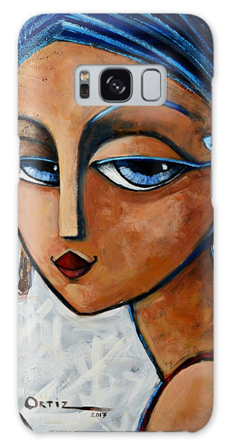 Chic Galaxy Case featuring the painting Sofia by Oscar Ortiz
