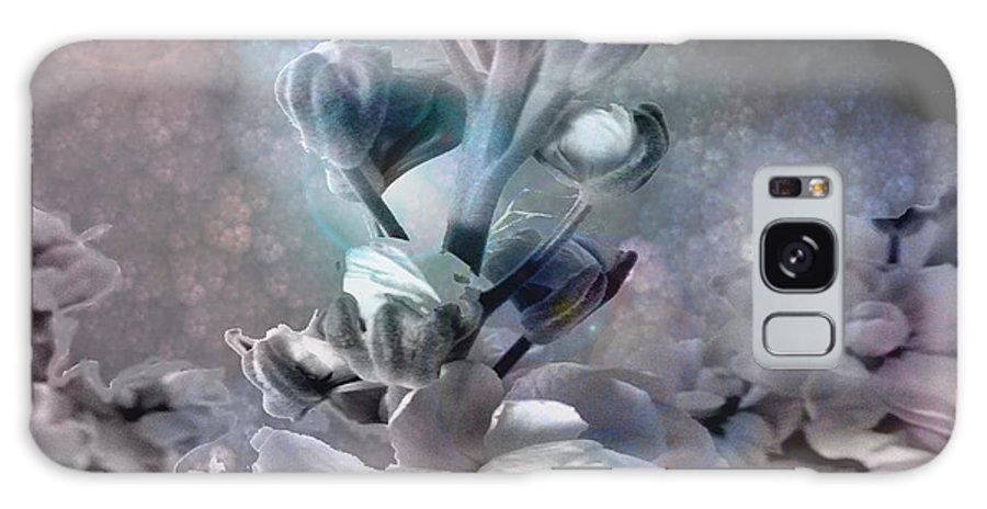 Floral Digital Art Galaxy S8 Case featuring the digital art Soft Petals by Louise Grant