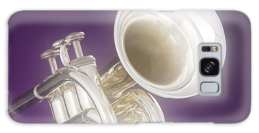 Cornet Galaxy S8 Case featuring the photograph Soft Trumpet On Purple by M K Miller