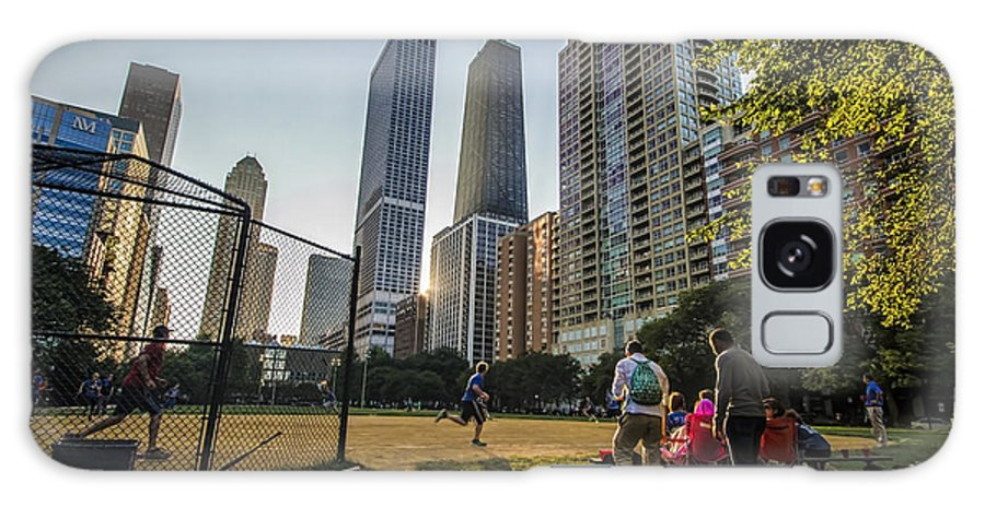 Softball Galaxy S8 Case featuring the photograph Softball By Skyscrapers by Sven Brogren