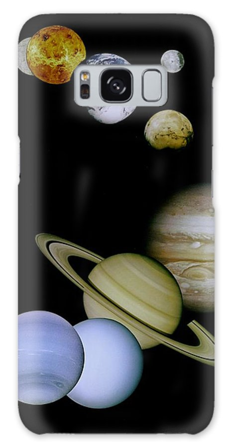 Mariner Galaxy S8 Case featuring the photograph Solar System Montage by Movie Poster Prints