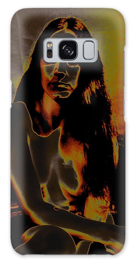 Figure Study Galaxy S8 Case featuring the photograph Solarised Nude 4 by Peter Jenkins