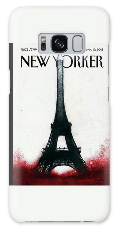 Charlie Hebdo Galaxy Case featuring the painting Solidarite by Ana Juan