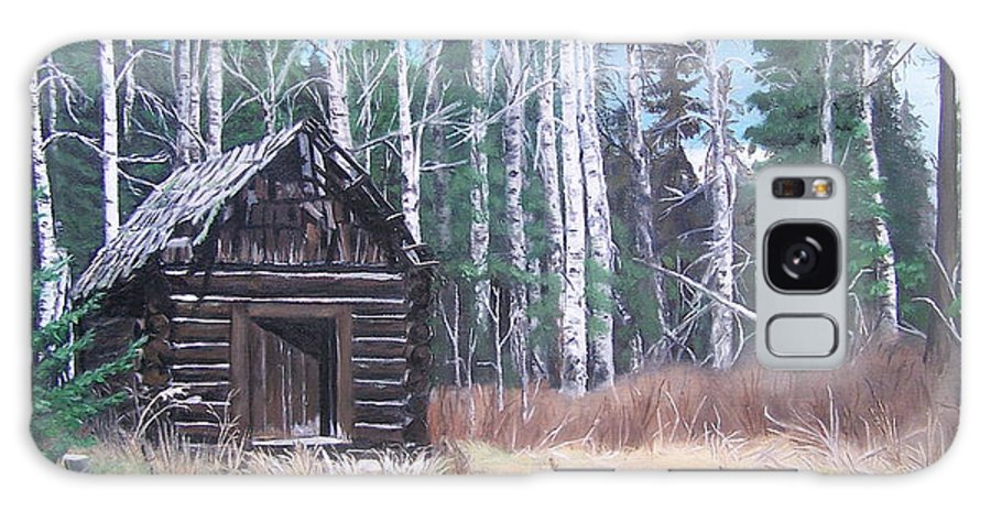 Old Cabin Galaxy S8 Case featuring the painting Solitude by Bonnie Heather