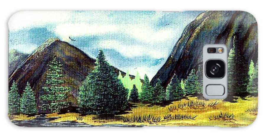Fine Art Galaxy Case featuring the painting Solitude by Patricia Griffin Brett