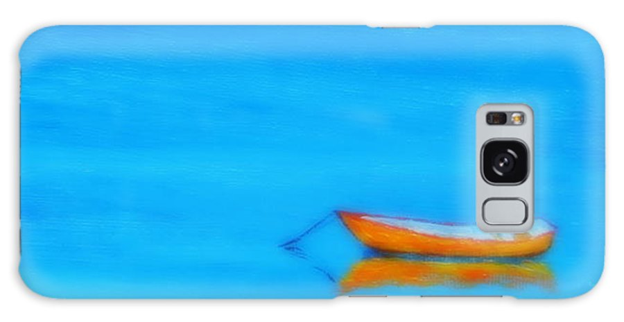 Boat At Rest Galaxy S8 Case featuring the painting Solitude by Rob White