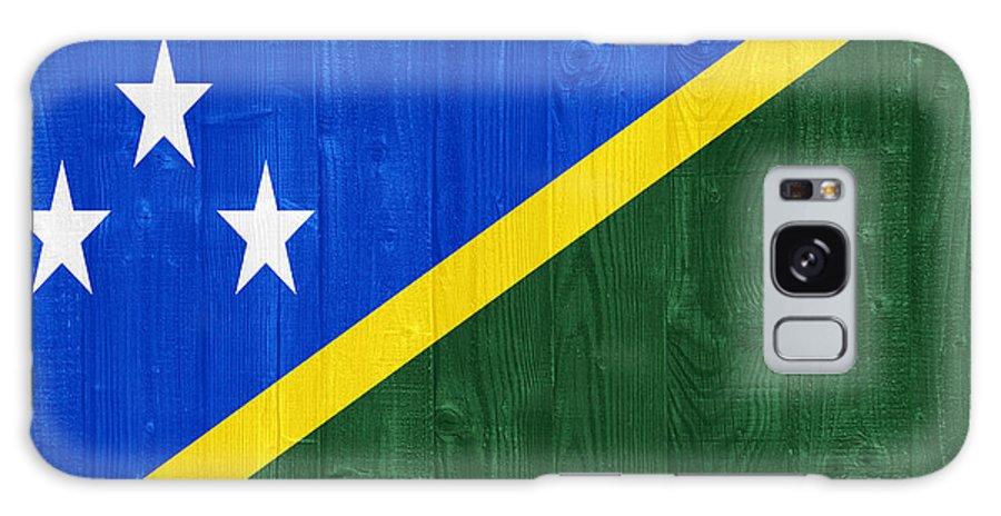Solomon Galaxy S8 Case featuring the photograph Solomon Islands Flag by Luis Alvarenga
