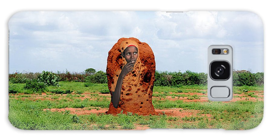 Africa Galaxy S8 Case featuring the photograph Somali Ant Hill - Beacon Of Hope by Morris Keyonzo