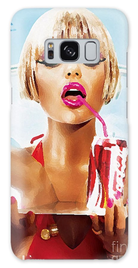 Sophie Monk Galaxy S8 Case featuring the mixed media Sophie Monk Painting by Marvin Blaine