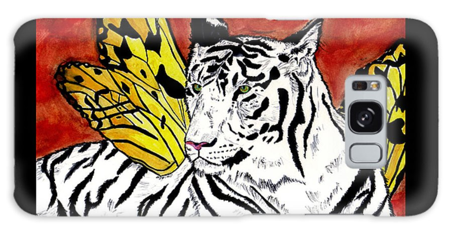 Tiger Galaxy Case featuring the painting Soul Rhapsody by Crystal Hubbard