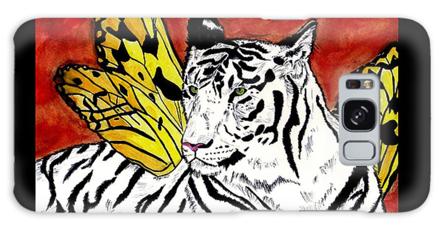 Tiger Galaxy S8 Case featuring the painting Soul Rhapsody by Crystal Hubbard