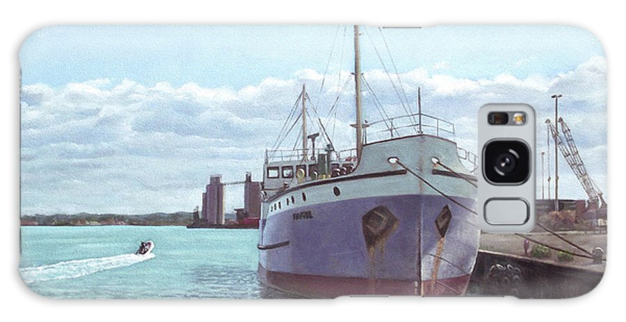 Southampton Galaxy S8 Case featuring the painting Southampton Docks Ss Shieldhall Ship by Martin Davey