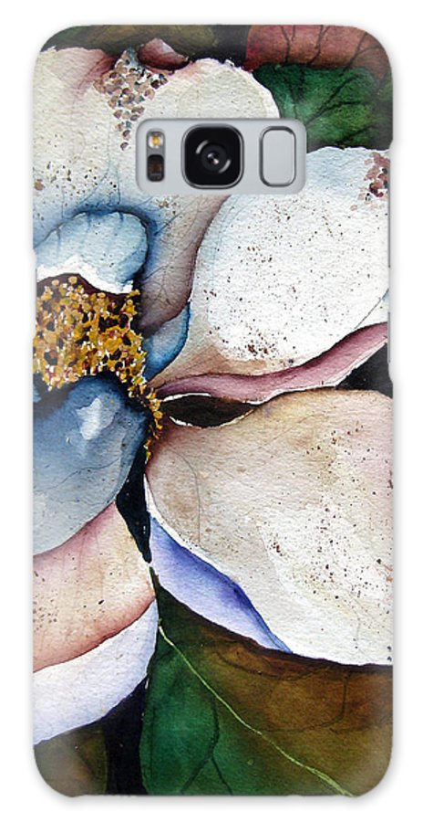 Magnolias Galaxy S8 Case featuring the painting White Glory by Lil Taylor
