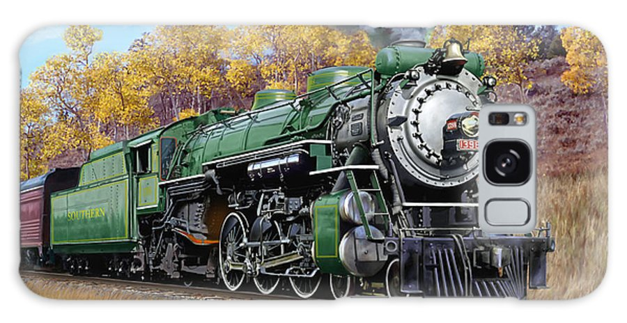 Railraod Galaxy S8 Case featuring the painting Southern Railway Class Ps-4 Pacific by Mark Karvon