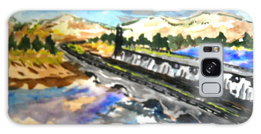 Scenery Galaxy S8 Case featuring the painting Southern River Dam by Ayyappa Das