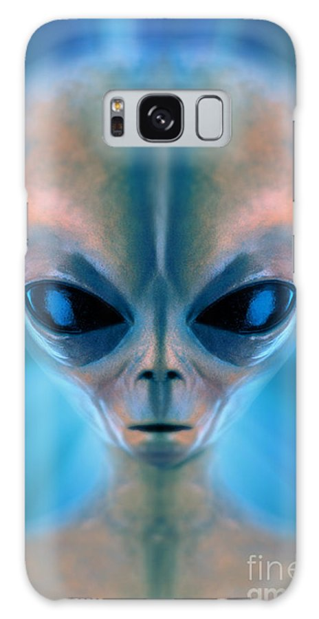 Visions Galaxy S8 Case featuring the photograph Space Alien by Mike Agliolo