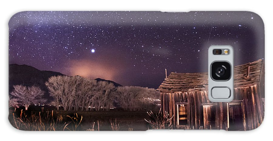 Night Stars Sky milky Way Architecture Building History Light California eastern Sierra sierra Nevada Scenic Landscape Nature Galaxy S8 Case featuring the photograph Space And Time by Cat Connor