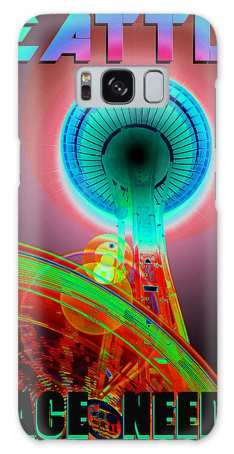 Seattle Galaxy S8 Case featuring the photograph Space Needle Poster Work A by David Lee Thompson