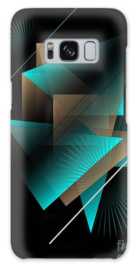Abstract Galaxy S8 Case featuring the digital art Spaces by Iris Gelbart