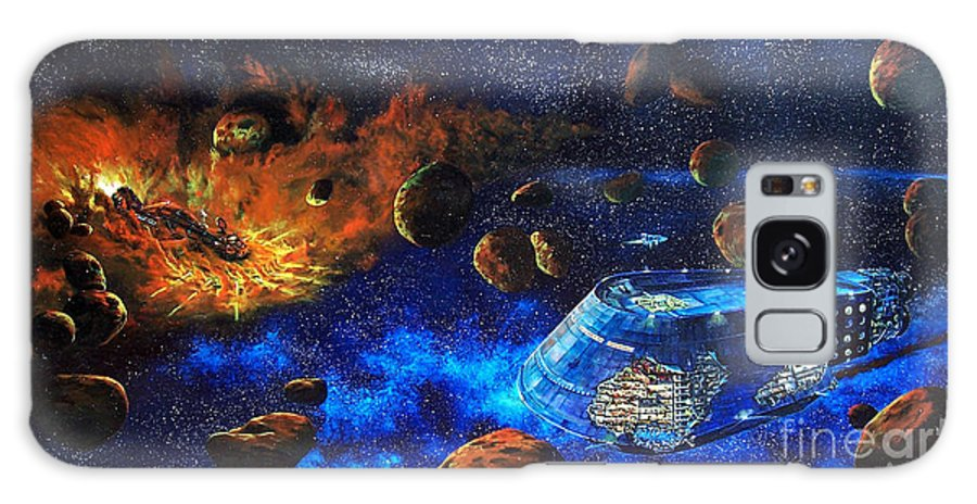 Future Galaxy S8 Case featuring the painting Spaceship Titanic by Murphy Elliott