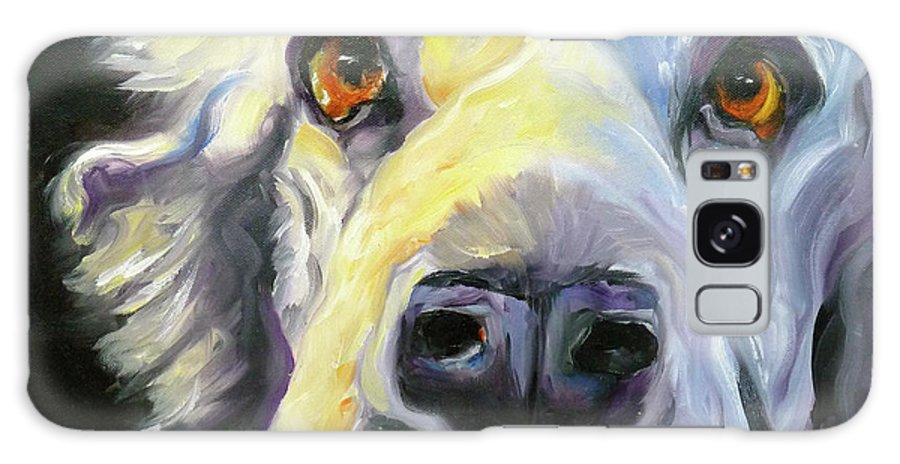 Dogs Galaxy Case featuring the painting Spaniel In Thought by Susan A Becker