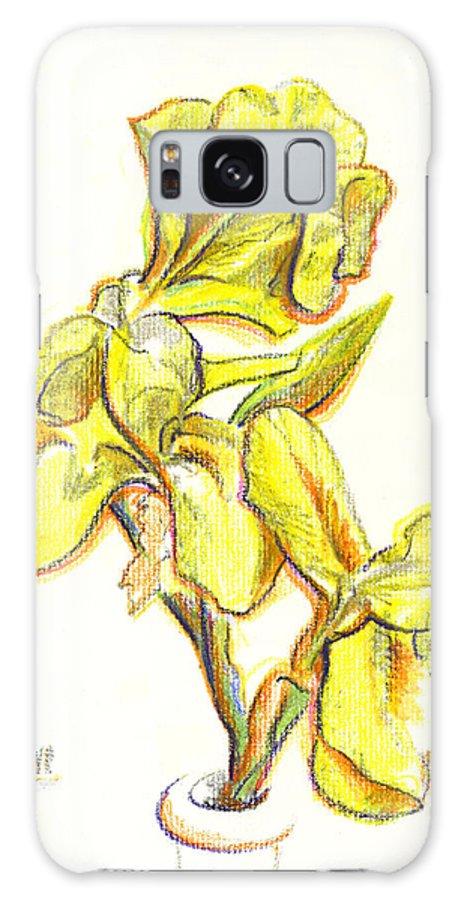 Spanish Irises Galaxy Case featuring the painting Spanish Irises by Kip DeVore