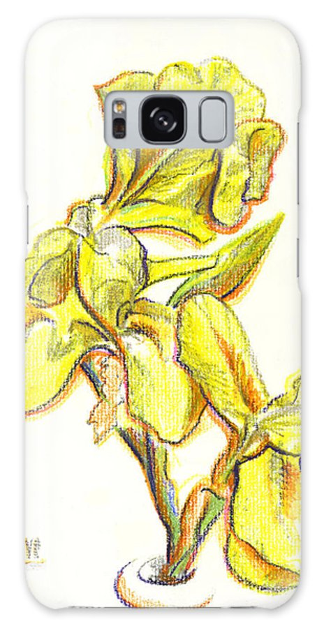 Spanish Irises Galaxy S8 Case featuring the painting Spanish Irises by Kip DeVore
