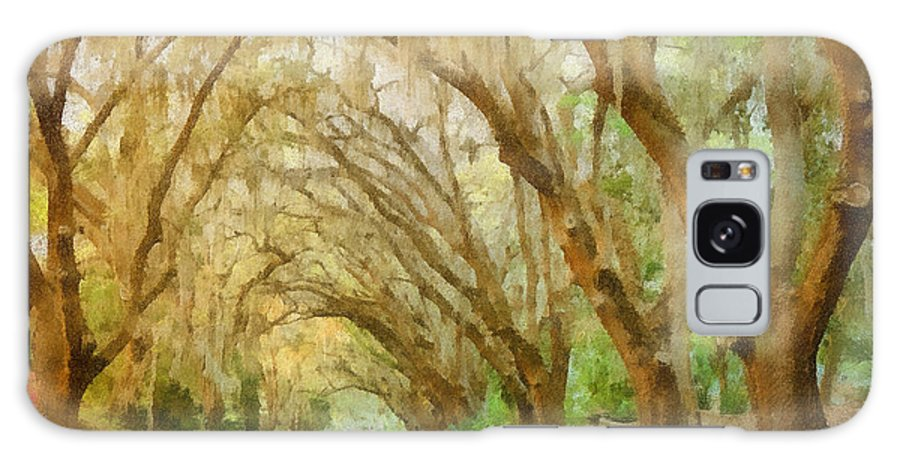 Spanish Galaxy S8 Case featuring the painting Spanish Moss - Symbol Of The South by Christine Till