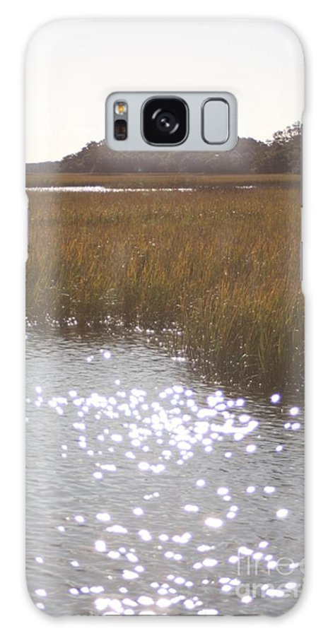 Marsh Galaxy Case featuring the photograph Sparkling Marsh by Nadine Rippelmeyer