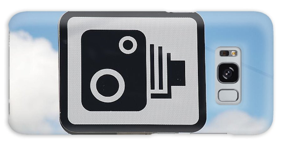 Speed Galaxy S8 Case featuring the photograph Speed Camera Sign Folkestone by David Fowler