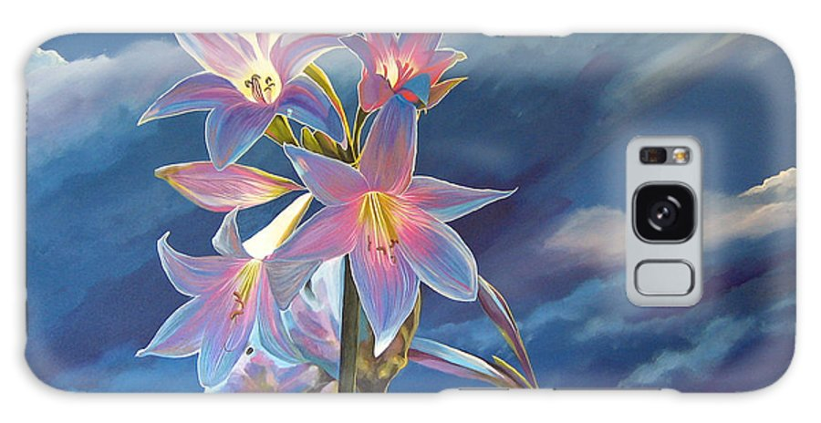 Botanical Galaxy Case featuring the painting Spellbound by Hunter Jay