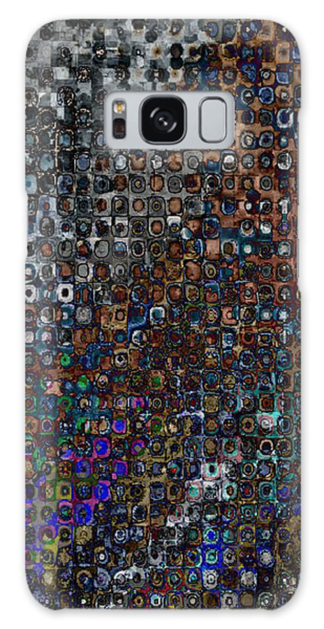 Abstract Galaxy S8 Case featuring the digital art Spex Affirm Abstract Art by Mary Clanahan