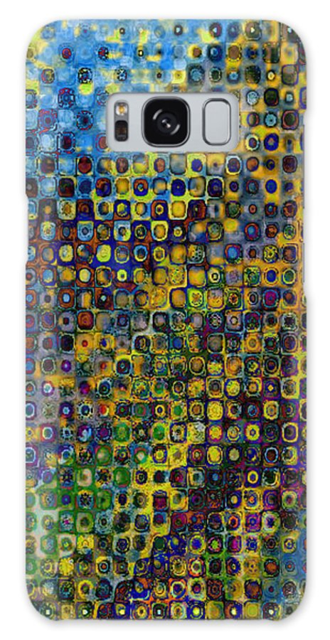 Abstract-art Galaxy S8 Case featuring the digital art Spex Pseudo Abstract Art by Mary Clanahan