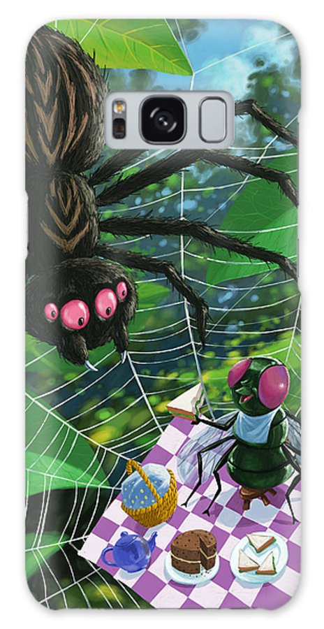 Picnic Galaxy S8 Case featuring the painting Spider Picnic by Martin Davey