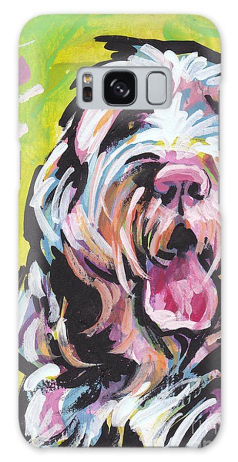 Spinone Italiano Galaxy S8 Case featuring the painting Spin One Baby by Lea S