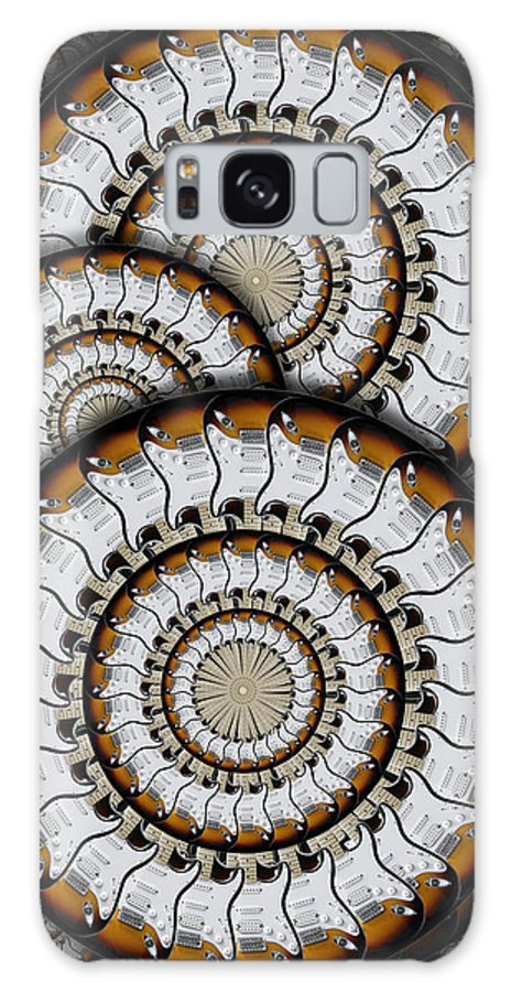 Abstract Guitars Galaxy S8 Case featuring the photograph Spinning Guitars 3 by Mike McGlothlen